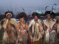 Left Sibeko (Sibeko) a Poet and praise Singer and HRH Prince Bambi Zulu and Umzala Wabo and HRH Prince Lungelo Zulu